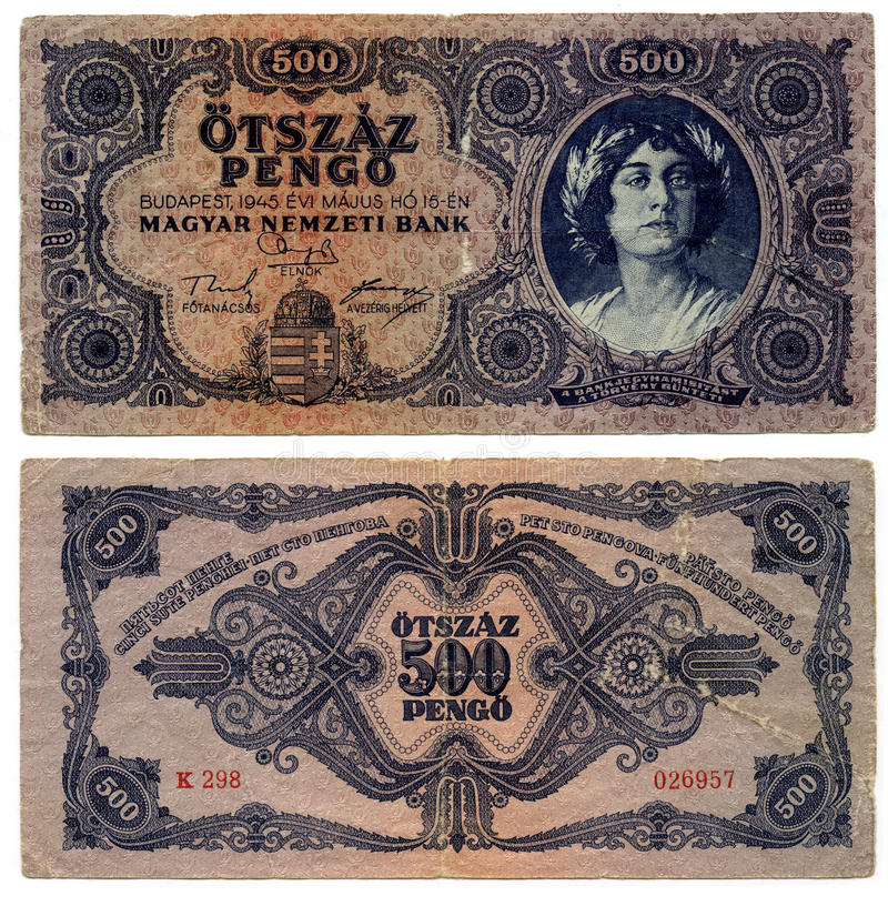 Download Old Denomination Currency 500 (Hungary) Stock Photo - Image: 13182318