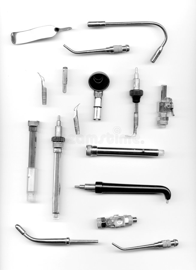Old dental tools royalty free stock images