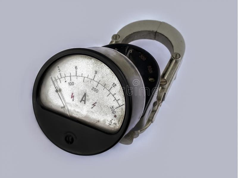 Old device, ammeter Soviet times.  stock photos