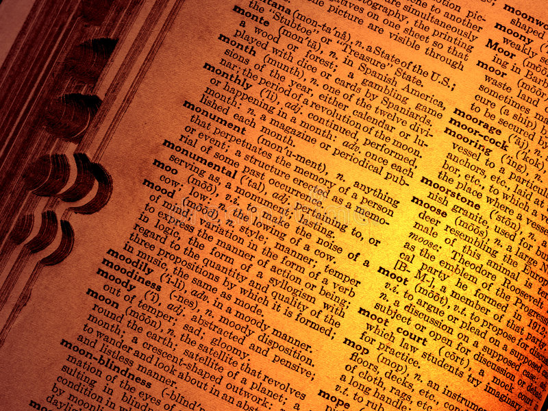 Old dictionary royalty free stock photography