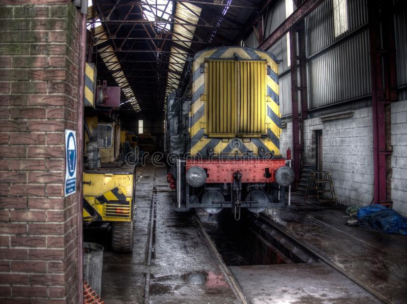 Old diesel train royalty free stock photo