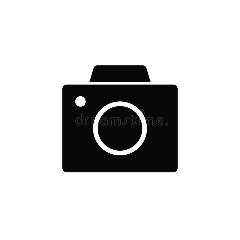 Old digital camera, icon. Element of simple icon for websites, web design, mobile app, infographics. Thick line icon for website. Design and development, app stock illustration