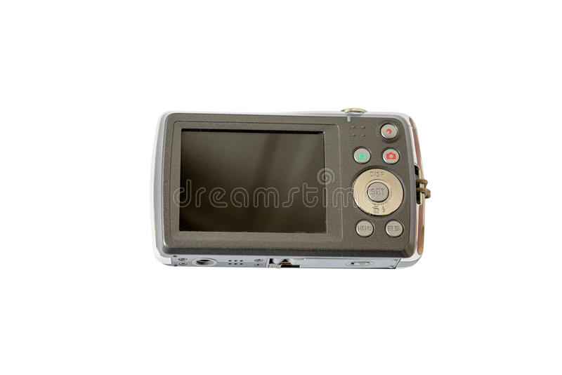 Old digital camera isolated on white background royalty free stock images