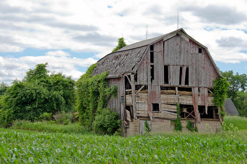 Old dilapidated barn stock images