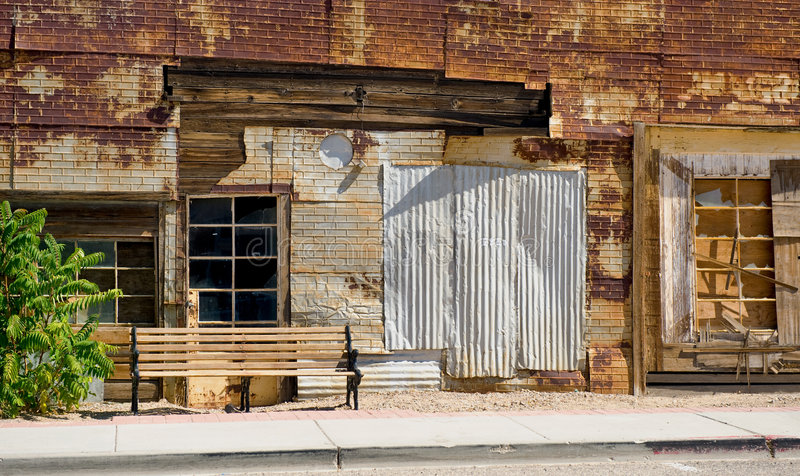 Download Old dilapidated building stock photo. Image of sidewalk - 7596232
