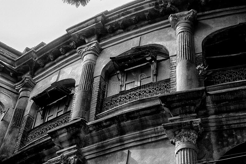 Old dilapidated house in kolkata royalty free stock image