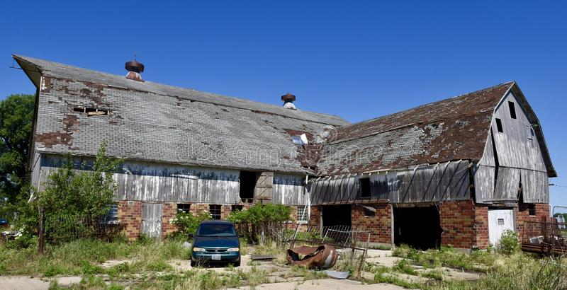 Old Dilapidated Iowa Barn royalty free stock image