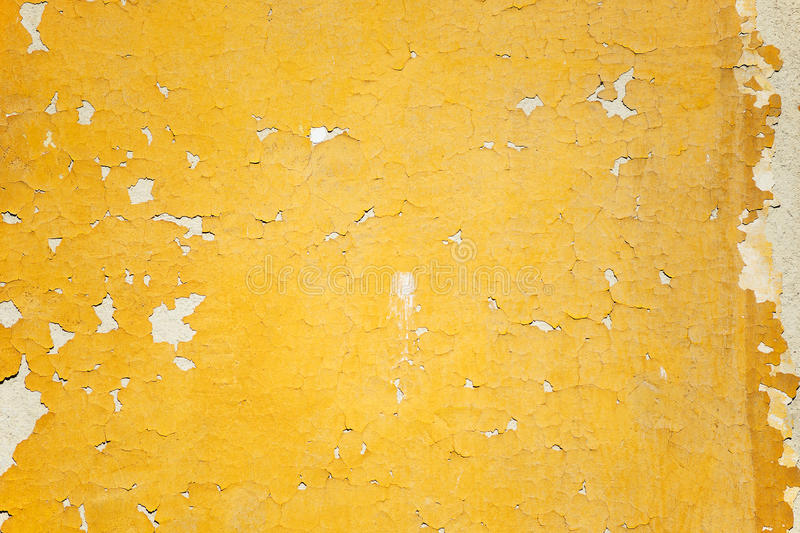 Old dilapidated plastered stone wall stock photo