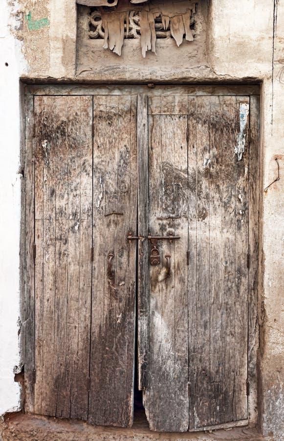 Old Dilapidated Wooden Door. Royalty Free Stock Photos