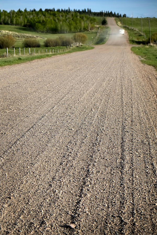 Old Dirt Country Road with Gravel royalty free stock photos