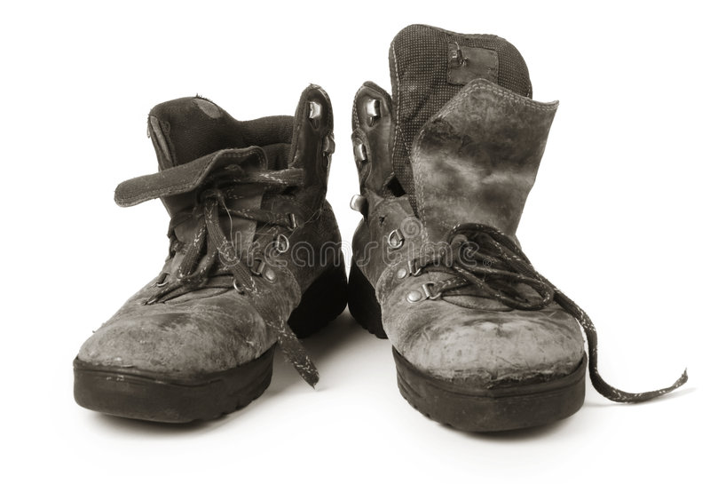 Old Dirty Boots Royalty Free Stock Photo