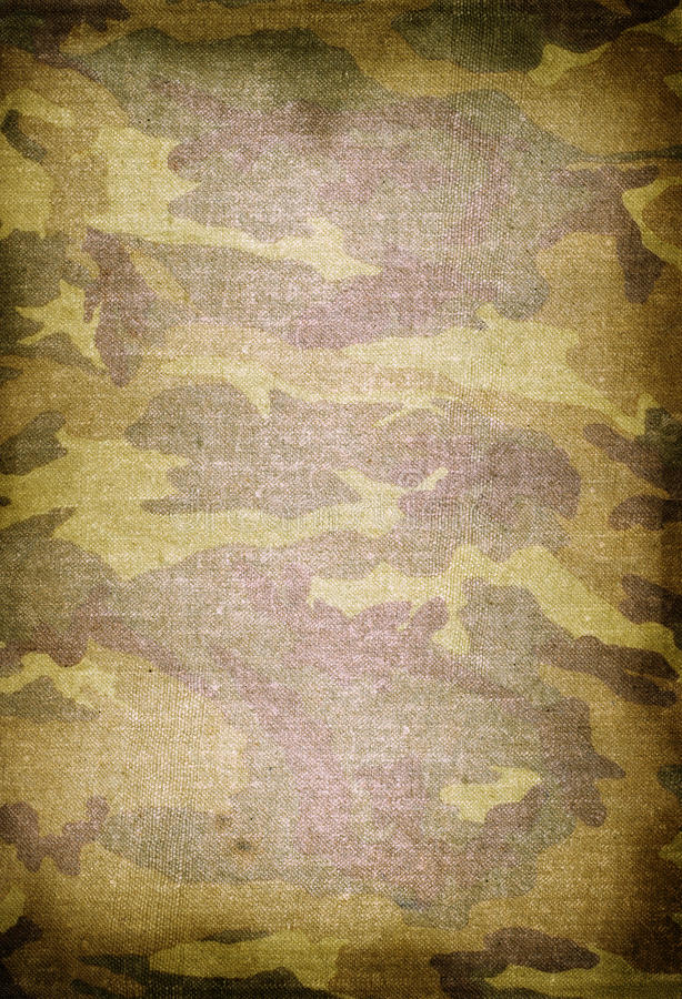 Old dirty camouflage stock photos