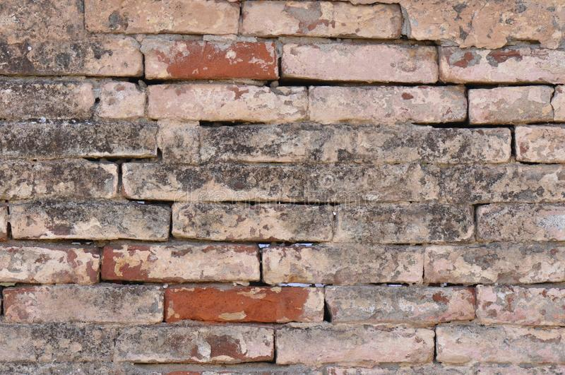 Old Dirty Crushed Bricks stock images