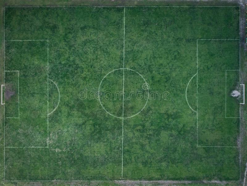 Old, dirty Football field royalty free stock photo