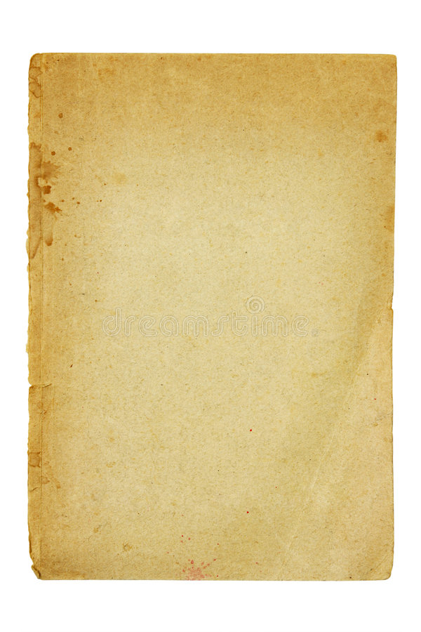Old and dirty piece of paper royalty free stock image