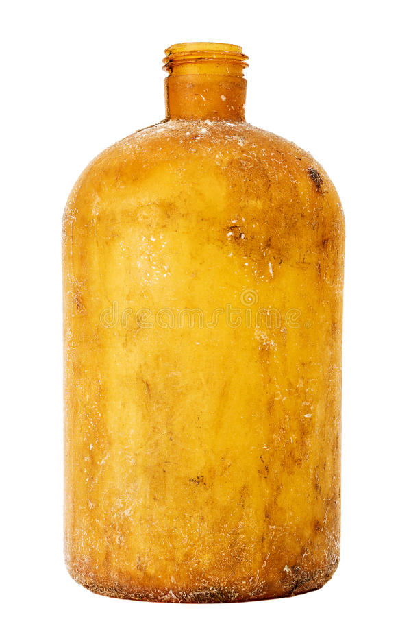 Old dirty plastic bottle royalty free stock image