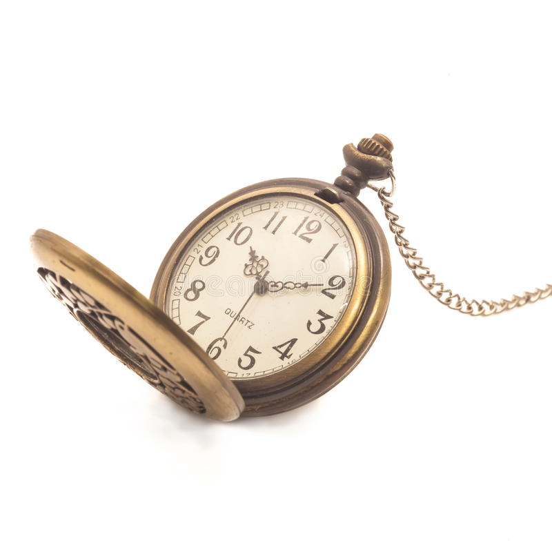 Old dirty pocket watch stock photos