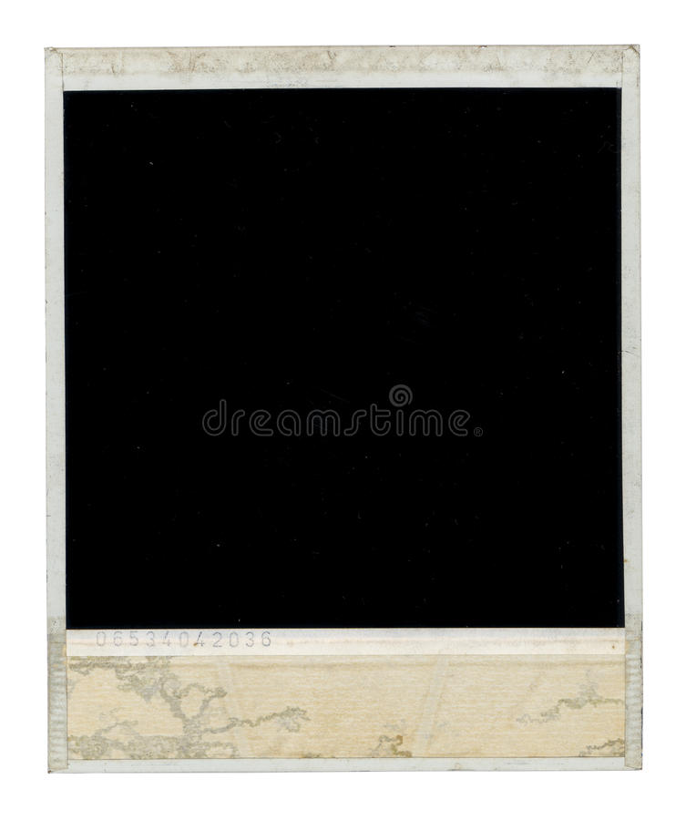 Dirty Polaroid Frame Back royalty free stock photo