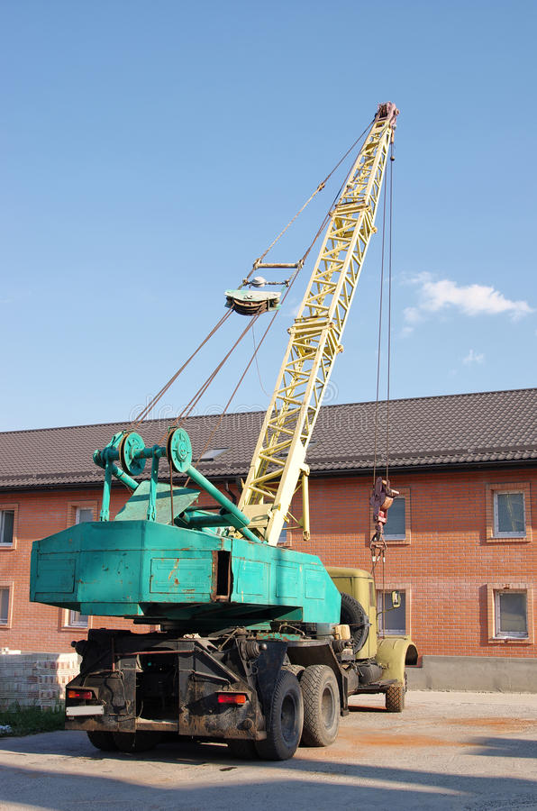 Download Old Dirty Russian Weathered Truck Crane Stock Photo - Image: 26392772