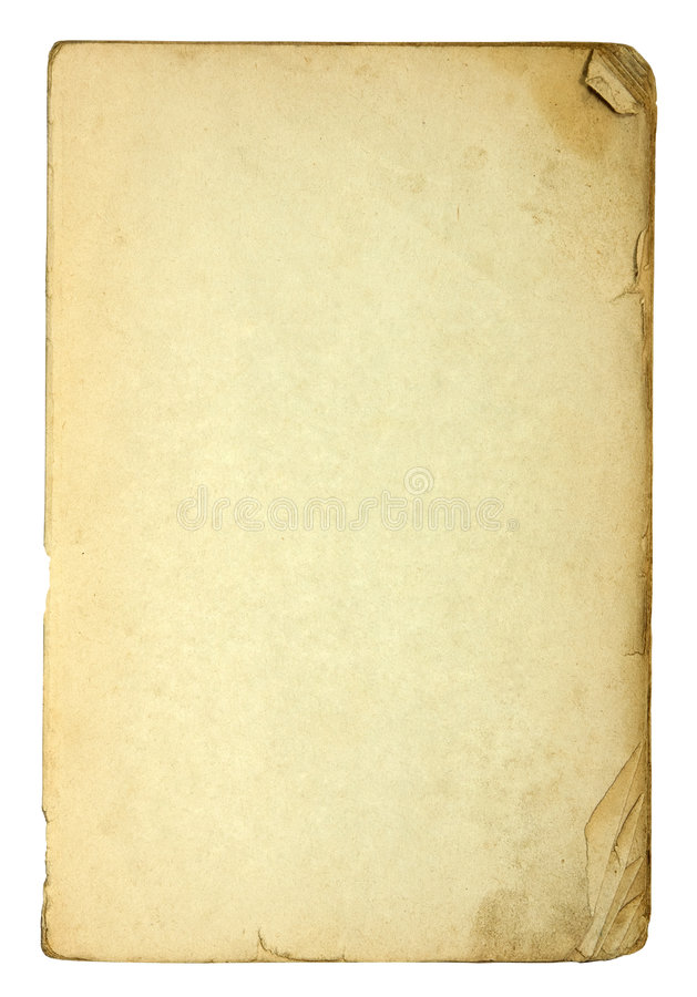 Old and dirty sheets of paper royalty free stock photos