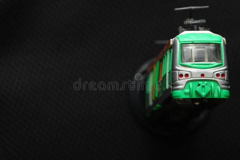 Old dirty train toy. royalty free stock image