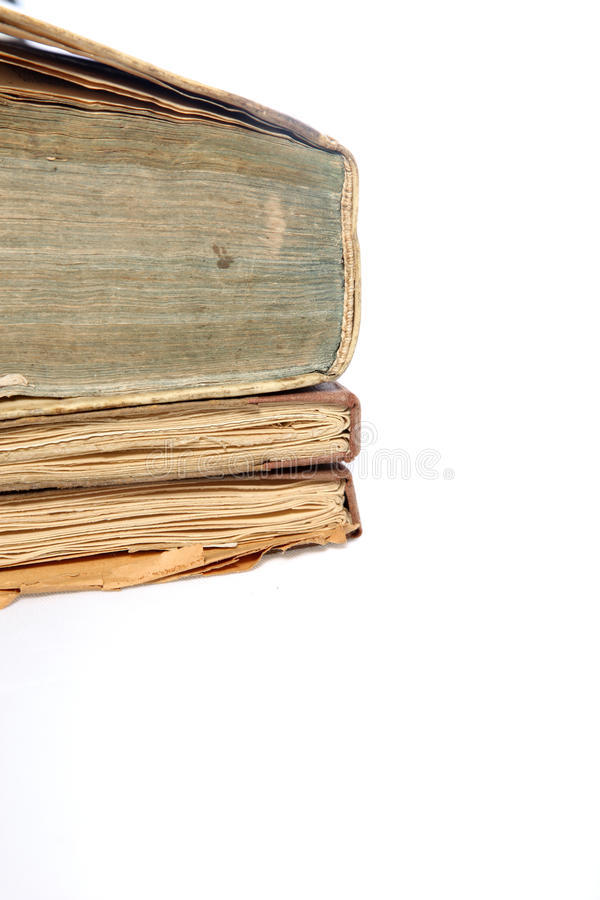 Old Discoloured Books Stock Images