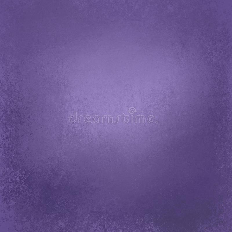 Old distressed background design with grunge texture and border in color of the year 2018 ultra violet pantone stock photography