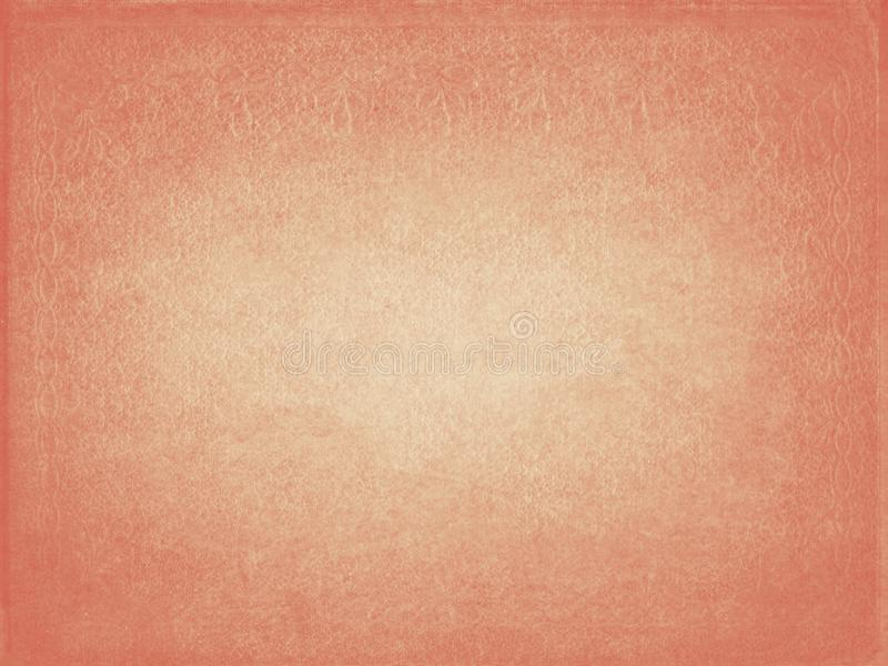 Old distressed orange pink paper texture background royalty free illustration