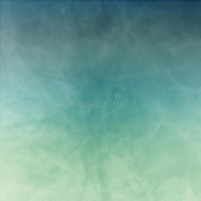 Vintage pale blue green background with paint blots spatter drips and drops with cracked grunge texture. Old distressed vintage pale blue green background with royalty free stock images