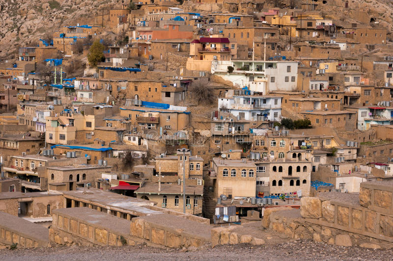 Old Distric Of Akre Aqrah Kurdistan Of Iraq. A general photo of Akre Aqrah city in Kurdistan of Iraq. Lokated in the north of Iraq. The old district of Aqrah was stock photography