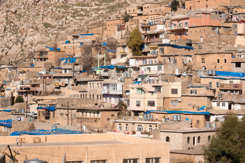 Old Distric Of Akre Aqrah Kurdistan Of Iraq. A general photo of Akre Aqrah city in Kurdistan of Iraq. Lokated in the north of Iraq. The old district of Aqrah was stock photos