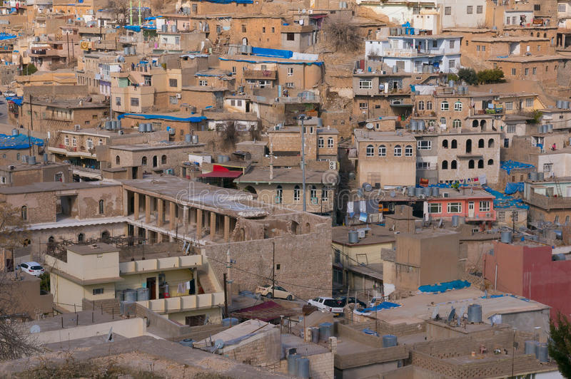 Old Distric Of Akre Aqrah Kurdistan Of Iraq With an old building. A general photo of Akre Aqrah city in Kurdistan of Iraq. Lokated in the north of Iraq. The old stock photography