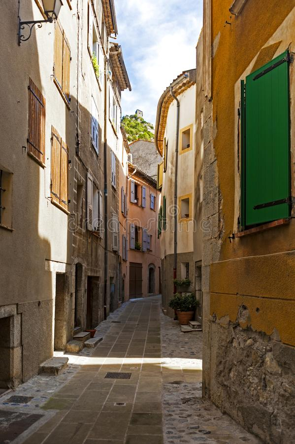 In the old district of Entrevaux, France. Entrevaux France is one of those Provencal villages that has been able to keep its character and charm royalty free stock images