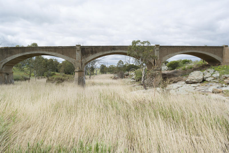 Old Disused Railway Bridge, Palmer, South Australia. Old disused arched railway bridge on Western Boundary Road, Palmer, near Mannum Waterfalls and part of the stock photos