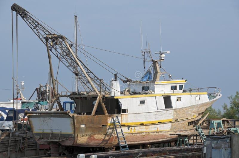 Download Old dockyard stock image. Image of ship, boat, damaged - 24676581