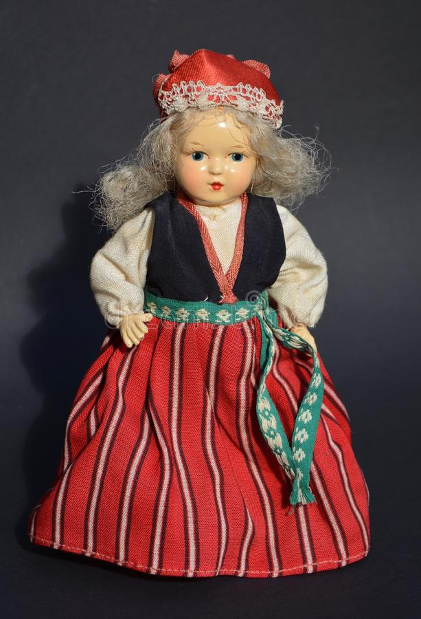 Old doll royalty free stock photo