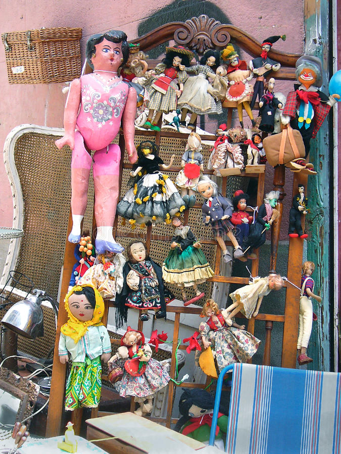 Old dolls stock image