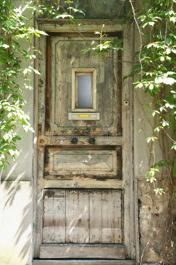 Download Old door stock photo. Image of antique, wood, plant, door - 123876