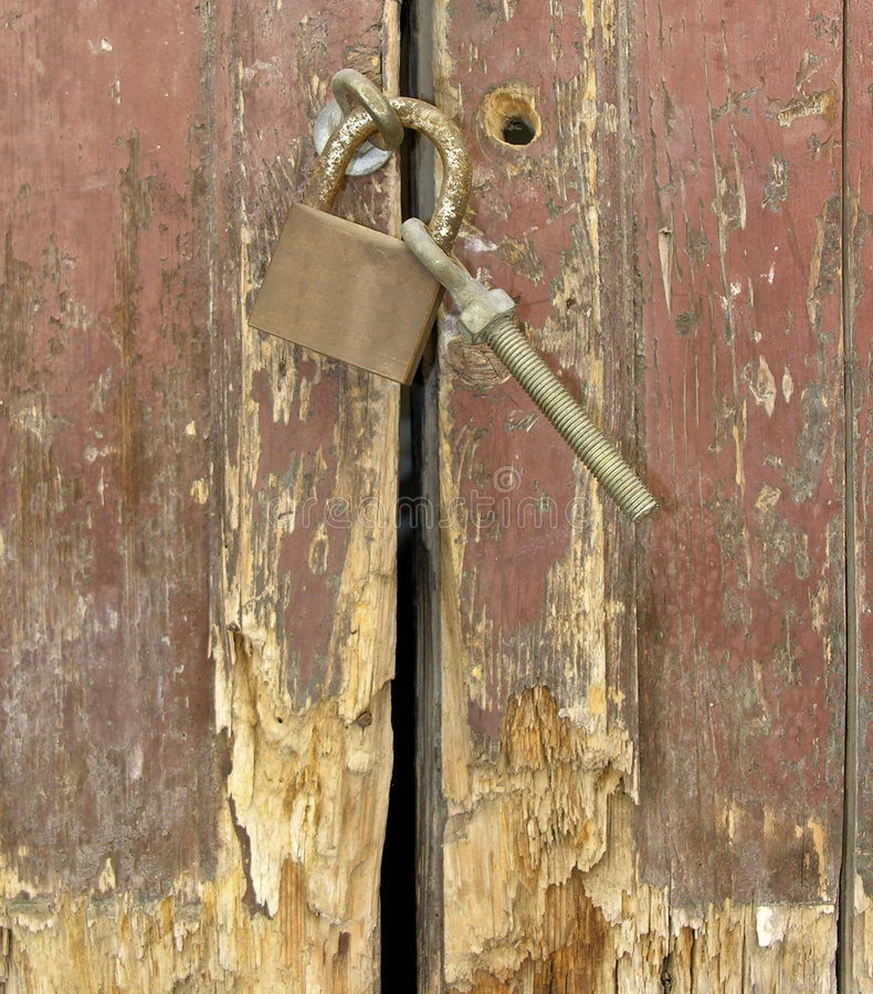 Download Old door stock image. Image of safety, wood, door, locking - 182917