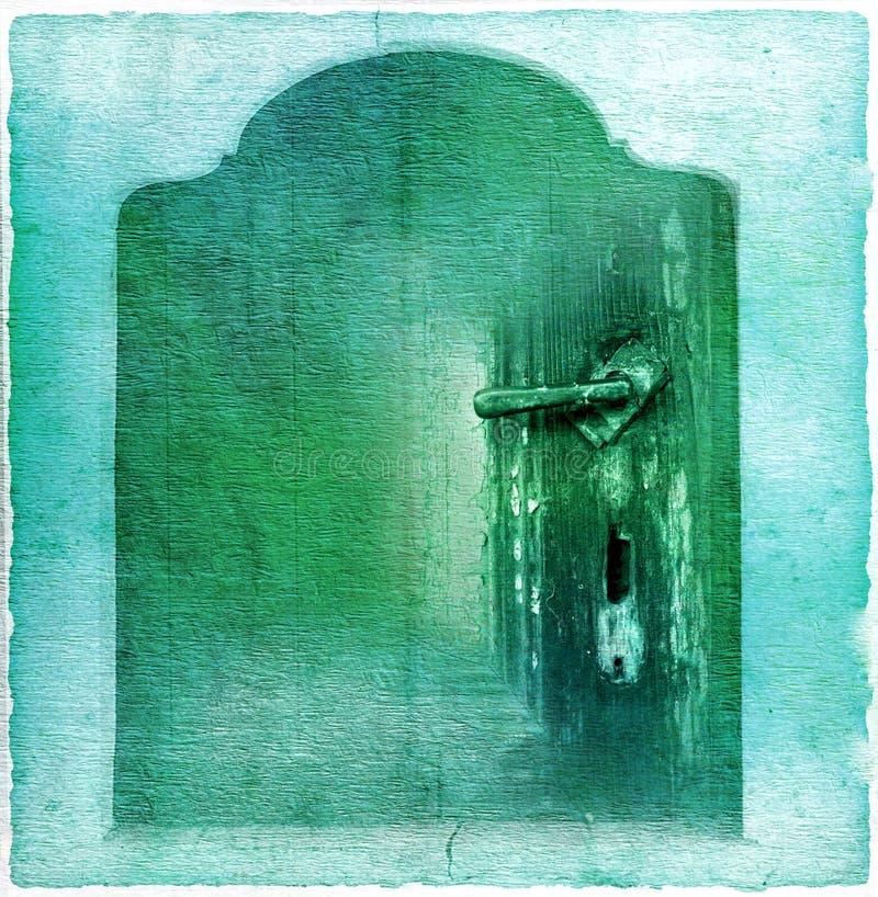 Download Old door stock illustration. Image of rusty, doorway - 23705317