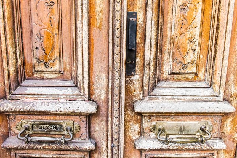 Old Door Background Architecture Architectural Design. Home Doors Old Retro royalty free stock photo