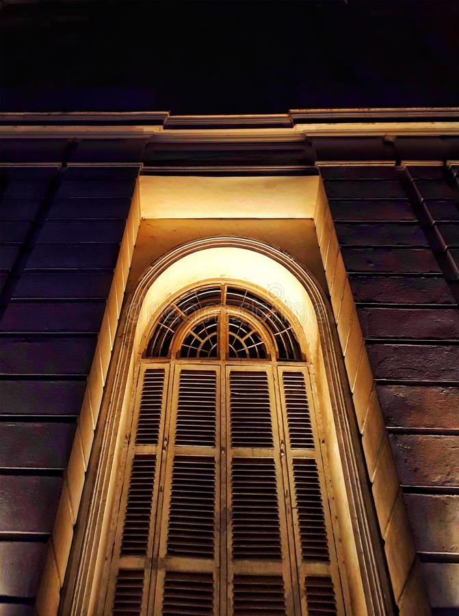 An old door of a big house. Old wood crave design door of a big luxurious house stock photography