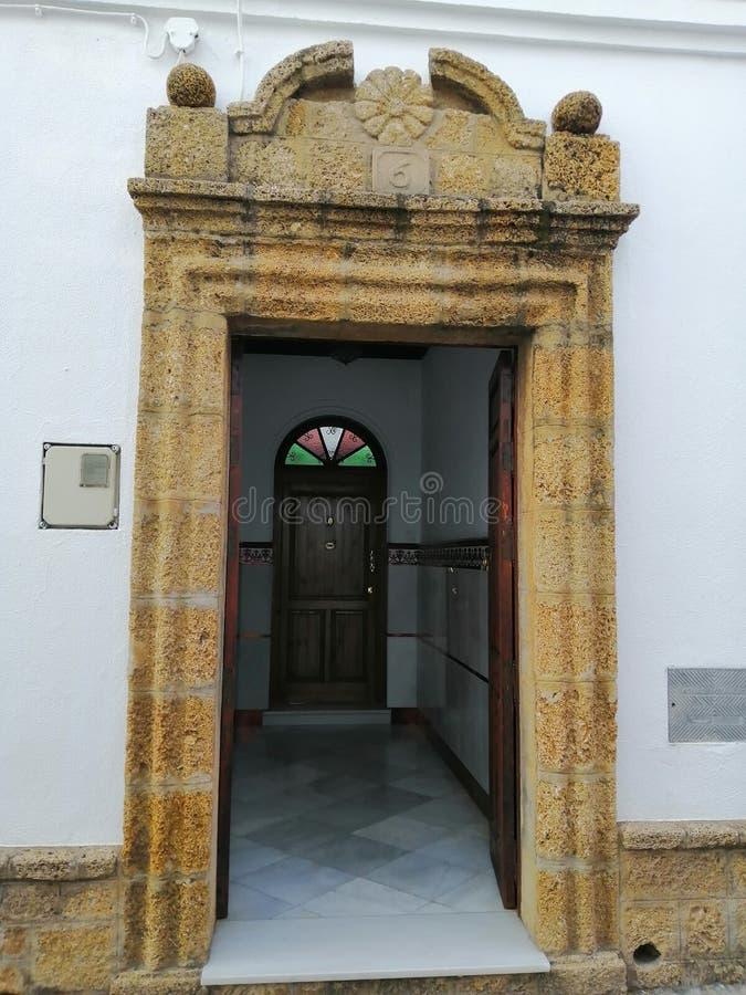Old door-Chiclana Cadiz. Old door stock images