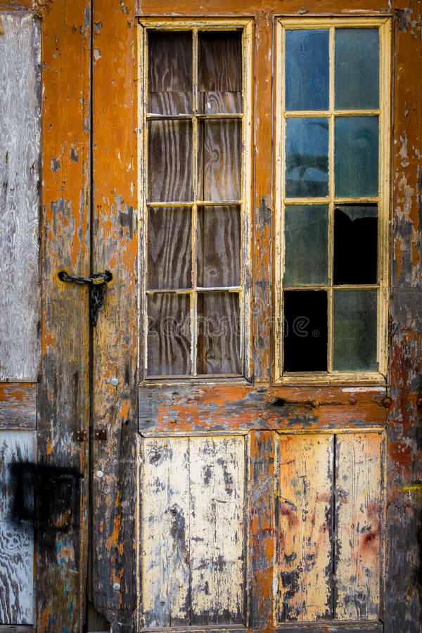 Old Door. At fort on Bermuda royalty free stock photo
