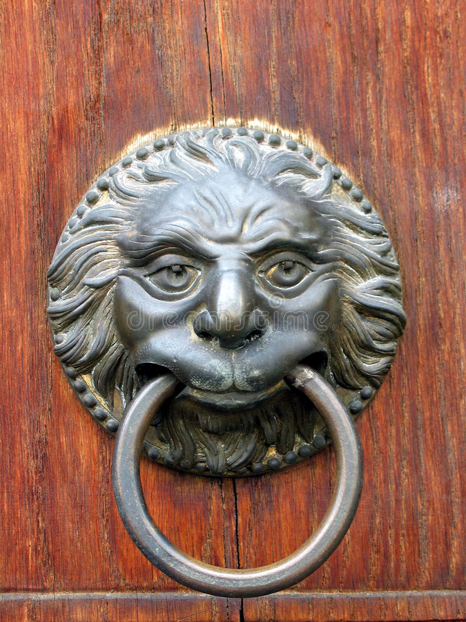 Download Old Door Handle Close-up In Toscany, Italy. Stock Photo - Image of closeup, design: 162472