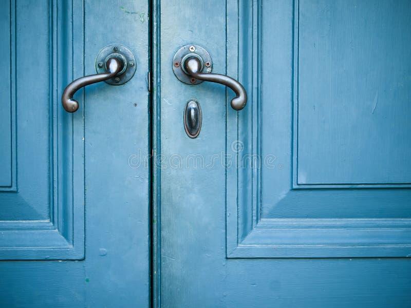 Old Door handles stock photo