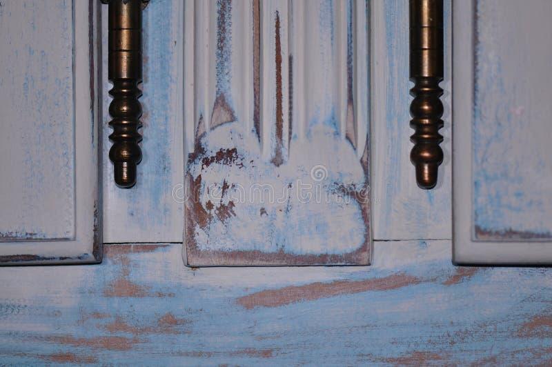 Old door hinge detail stock photo