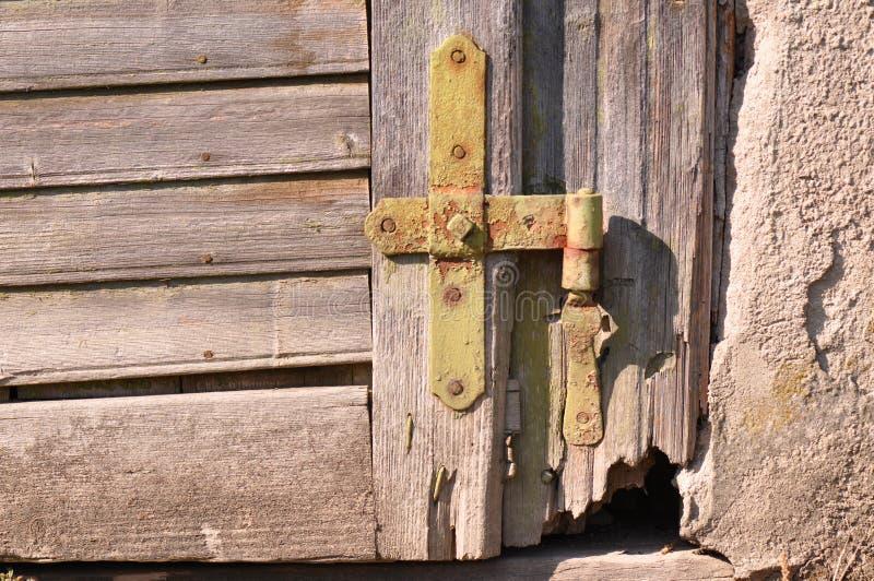 Old door hinge royalty free stock image