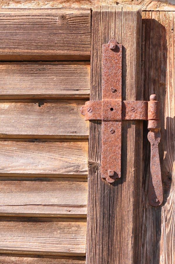 Old door hinge stock image