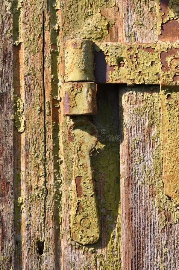Old door hinge royalty free stock images